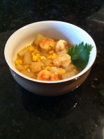 Shrimp and Corn Curry Chowder