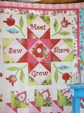 quilt block in fabric